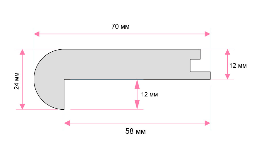 Large Laminate Flush Nosing Image