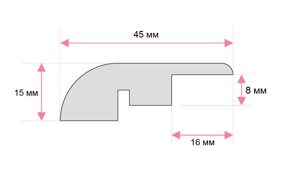 Laminate Reducer Specs Image