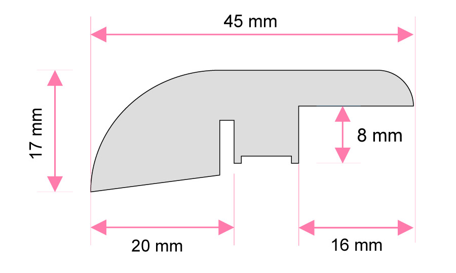 Vinyl Reducer Moulding For 10-22 Mm Flooring